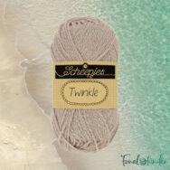 Scheepjes Twinkle 904 - csillogó bézs pamut fonal - glittering beige cotton yarn