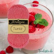 Scheepjes Twinkle 929 - csillogó élénk rózsaszín pamut fonal - glittering vivid-pink cotton yarn