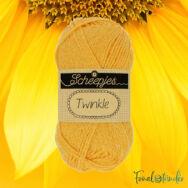 Scheepjes Twinkle 936 - csillogó napsárga pamut fonal - glittering yellow cotton yarn