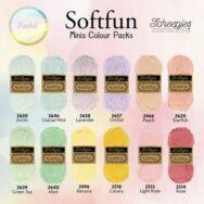 Scheepjes Softfun Color Pack - Pasztell - 12 gombolyag