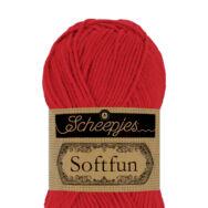 Scheepjes Softfun 2410 Candy Apple - red - almapiros - pamut-akril fonal - yarn blend