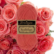 Scheepjes Softfun 2449 Salmon - red - lazacpiros - pamut-akril fonal - yarn blend