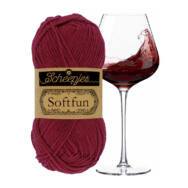 Scheepjes Softfun 2492 Bordeaux red - bordó - pamut-akril fonal - yarn blend
