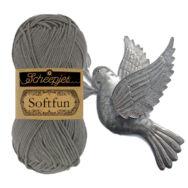 Scheepjes Softfun 2510 Dove - gray - galambszürke - pamut-akril fonal - yarn blend