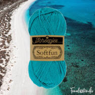 Scheepjes Softfun 2511 Dark Turquoise - türkizkék - pamut-akril fonal - yarn blend