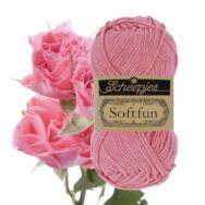 Scheepjes Softfun 2514 Rose - pink - rózsaszín - pamut-akril fonal - yarn blend