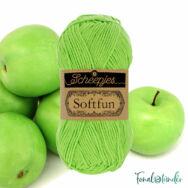 Scheepjes Softfun 2516 Apple - vivid green - almazöld - pamut-akril fonal - yarn blend
