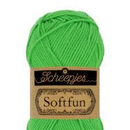 Scheepjes Softfun 2517 Kelly - vivid green - élénkzöld - pamut-akril fonal - yarn blend
