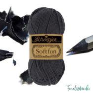 Scheepjes Softfun 2601 Graphite - dark gray - sötét szürke - pamut-akril fonal - yarn blend