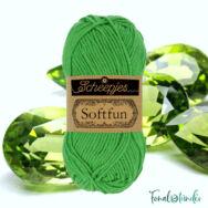 Scheepjes Softfun 2605 Emerald - vivid green - smaragdzöld - pamut-akril fonal - yarn blend