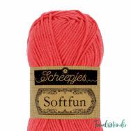 Scheepjes Softfun 2607 Coral -  red - korallpirospiros - pamut-akril fonal - yarn blend  - 3