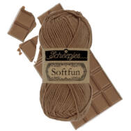 Scheepjes Softfun 2633 Tawny - brown - barna - pamut-akril fonal - yarn blend