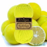 Scheepjes Softfun 2641 Citrus Lime - citromsárga - pamut-akril fonal - yarn blend