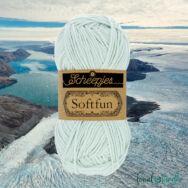Scheepjes Softfun 2646 Glacial Mist - light blue - halvány kék - pamut-akril fonal - yarn blend