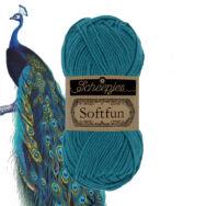 Scheepjes Softfun 2649 Peacock - blue - pávakék - pamut-akril fonal - yarn blend