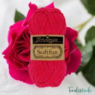 Scheepjes Softfun  2654 Magenta - dark pink - élénk rózsaszín - pamut-akril fonal - yarn blend