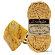 Scheepjes Stone Washed XL 849 Yellow Jasper - pamut fonal - cotton yarn
