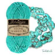 Scheepjes Stone Washed XL 864 Turquoise -  pamut fonal - cotton yarn
