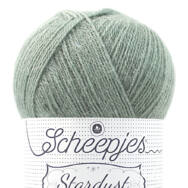 Scheepjes Stardust 657 Aquarius - világoszöld mohair fonal - light-green mohair yarn blend