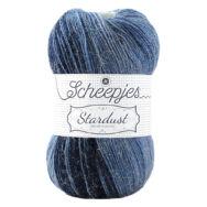 Scheepjes Stardust 663 Gemini - kék ombre mohair fonal - blue ombre mohair yarn blend