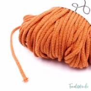 MILA Sznur cotton cord - pumpkin-orange - pamut zsinórfonal - narancssárga- 3mm