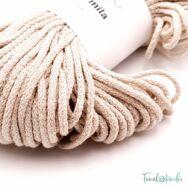 MILA Sznur cotton cord - light beige - pamut zsinórfonal - világos drapp - 3mm - 02
