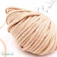 MILA Sznur cotton cord - caramel - pamut zsinórfonal - vajkaramella színű - 3mm