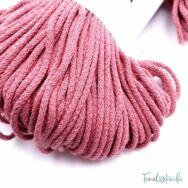 MILA Sznur cotton cord - old rose - pamut zsinórfonal - rózsaszín - 3mm