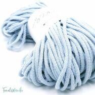 Mila Sznur pamut zsinórfonal - halvány kék - 5mm