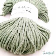 MILA Sznur cotton cord - dark-green - pamut zsinórfonal - sötétzöld - 5mm - kep2