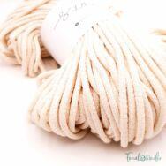 MILA Sznur cotton cord - light ecru - pamut zsinórfonal - halvány törtfehér - 5mm - kép 2