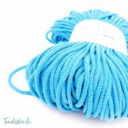 MILA Sznur cotton cord - turquoise blue - pamut zsinórfonal - türkizkék színű - 5mm -2kep