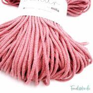 MILA Sznur cotton cord - old rose - pamut zsinórfonal - fáradtrózsaszín - 5mm - kep2