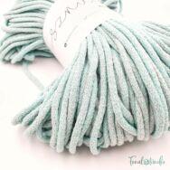 MILA Sznur cotton cord - light green-gray - pamut zsinórfonal - világos szürke-zöld - 5mm - közeli kép