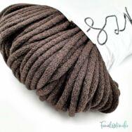 MILA Sznur cotton cord - chocolate brown - pamut zsinórfonal - csokibarna színű - 5mm