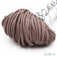 MILA Sznur cotton cord - coffee mocha - pamut zsinórfonal - mokka kávé színű - 5mm