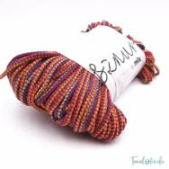 MILA Sznur cotton cord - multicolor red - pamut zsinórfonal - többszínű bordó - 5mm