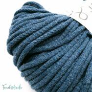 MILA Sznur cotton cord - petrol blue - pamut zsinórfonal - sötétkék színű - 5mm