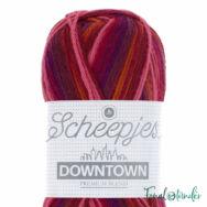 Scheepjes Downtown 401 Sunset - vörös-narancs gyapjú fonal - wool yarn blend
