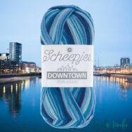 Scheepjes Downtown 410 River Walk - folyóparti kékek -  gyapjú fonal - wool yarn blend