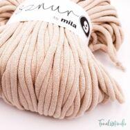 MILA Sznur cotton cord - light beige - pamut zsinórfonal - halvány drapp - 9mm - kep2