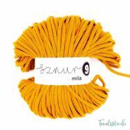 MILA Sznur cotton cord - ochre - pamut zsinórfonal - okkersárga - 9mm