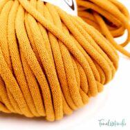 MILA Sznur cotton cord - ochre - pamut zsinórfonal - okkersárga - 9mm -kep2