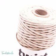 MILA Twist cotton cord - light beige - sodort pamut zsinórfonal - világos drapp - 3mm