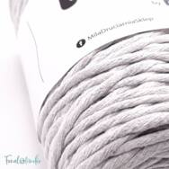 MILA Twist cotton cord - light gray - sodort pamut zsinórfonal - világos szürke - 3mm - kep2