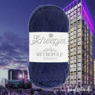 Scheepjes Metropolis 002 Glasgow - kékes lila gyapjú fonal - blue-purple wool yarn - kep2