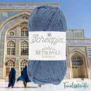 Scheepjes Metropolis 004 Kabul - kék gyapjú fonal - blue wool yarn - kep2