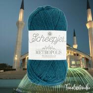Scheepjes Metropolis 010 Ankara - türkizes kék gyapjú fonal - blue wool yarn - kep2