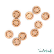 Fa gombok - Wooden buttons - Handmade with love - 15mm