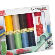 Gütermann Creativ set - with textile glue stick - varrócérna készlet - textil ragasztóval